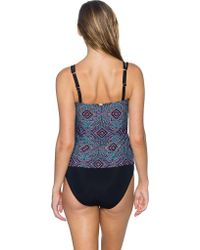 Sunsets Blue Taylor Underwire Tankini