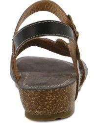 Spring Step Black Kukonda Quarter Strap Sandal