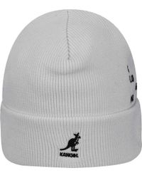 Bailey of Hollywood White Word Beanie for men