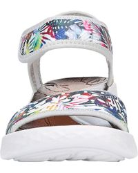 Bzees Blue Jemma Quarter Strap Sandal