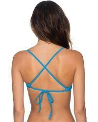 Sunsets Blue Jayne X Back Bikini Top