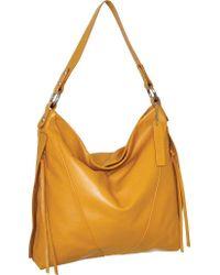 Nino Bossi Yellow Geraldine Leather Hobo Bag