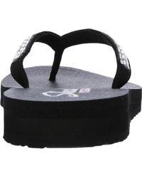Skechers Black Meditation Desert Princess Flip-flop