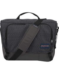 Jansport Black Network Messenger Bag for men