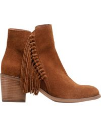 Kenneth Cole Reaction - Brown Rotini Fringe Bootie - Lyst