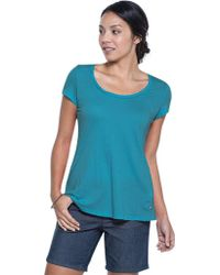 Toad&Co Blue Tissue Crossback Short Sleeve Tee