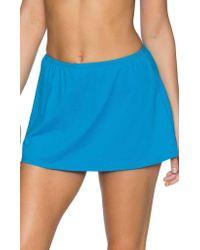 Sunsets Blue Sidekick Swim Skirt