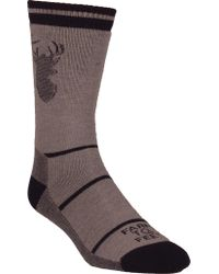 FARM TO FEET Brown Englewood Stag Midweight Crew Sock (3 Pairs) for men
