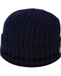 huge discount a43b8 309f4 Lyst - Original Penguin Chunky Knit Beanie in Blue for Men