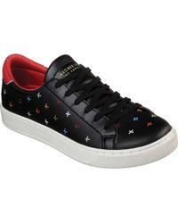 Skechers Black Prima Criss Cross Sneaker