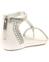 Kenneth Cole Reaction White Lost You T-strap Sandal