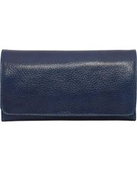 Latico Blue Shelby Wallet 4669