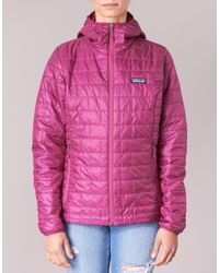 Doudounes W's Nano Puff Hoody Patagonia en coloris Pink