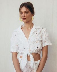 Cult Gaia Madeline Blouse White