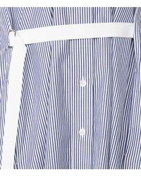 Sacai - Blue Striped Shirt Dress - Lyst
