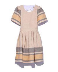 Sea   Natural Beige Border Stripe Dress   Lyst