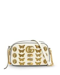Gucci - White Gg Marmont Buttlerfly Bag - Lyst