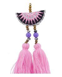 Shashi - Pink/multicolor Double Tassel Drop Earring - Lyst