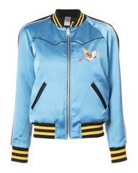 COACH - Blue Reversible California Puffer Jacket - Lyst