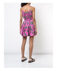 Rhode Resort Pink/green Nala Mini Dress