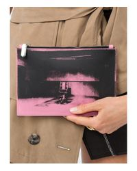 CALVIN KLEIN 205W39NYC Pink X Andy Warhol Foundation Electric Chair Leather Pouch
