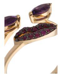Delfina Delettrez - Purple 'ana' Ring - Lyst