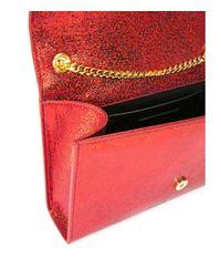 Saint Laurent   Red Monogram Leather Shoulder Bag   Lyst