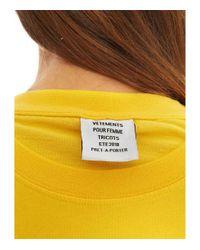 Vetements Yellow Dhl Double T-shirt