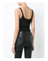 Alexander Wang - Black Cropped Bodycon Top - Lyst