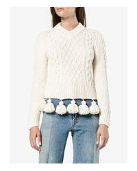 Rosie Assoulin - Natural Cream Pom-pom Sweater - Lyst