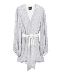 retroféte Metallic Gabrielle Robe Dress In Silver