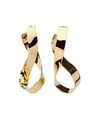 Jennifer Fisher - Metallic Gold Medium Thick Script Earrings - Lyst