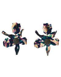 Lele Sadoughi - Blue Twilight Crystal Lily Earrings - Lyst
