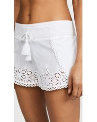 OndadeMar - White Cover Up Shorts - Lyst