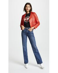 Re/done Blue High Rise Medium Flare Jeans