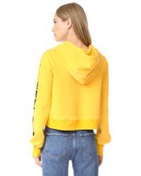 Pam & Gela - Yellow Sweatshirt With Eagle - Lyst