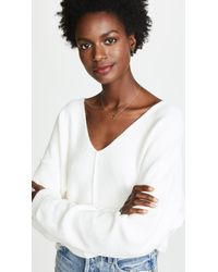 Free People - White Take Me Places Pullover - Lyst