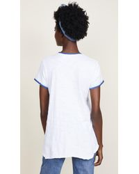 Wilt White Shrunken Bf Spray Ringer Tee