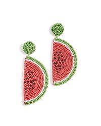 Kenneth Jay Lane - Multicolor Watermelon Drop Earrings - Lyst
