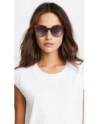 McQ Alexander McQueen Gray Artstar Logo Cat Eye Sunglasses