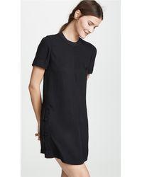 Rag & Bone Black Aiden Tee Shirt Dress