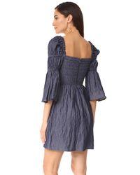 Sea Blue Empire Waisted Tunic Dress
