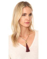 Gorjana - Multicolor Leucadia Beaded Tassel Necklace - Lyst