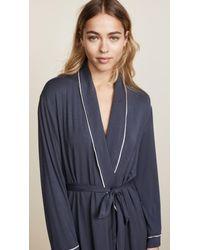 Eberjey Blue Gisele Tuxedo Robe