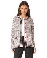 M Missoni - Black Tweed Cardigan Jacket - Lyst