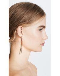 Joanna Laura Constantine - Metallic Crisscross Earrings - Lyst