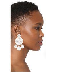 All Things Mochi - White Spanish Earrings - Lyst