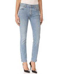 Re/done Blue Originals Stretch Straight Skinny Jeans