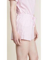 Sleepy Jones Pink Small Gingham Paloma Shorts