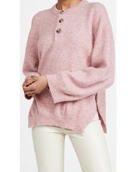 Nanushka Pink Lamee Sweater